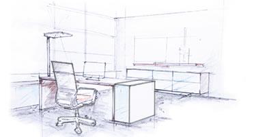 Bürostuhl skizze  Büromöbel Karlsfeld, Dachau, München - Büroeinrichtung + Designmöbel